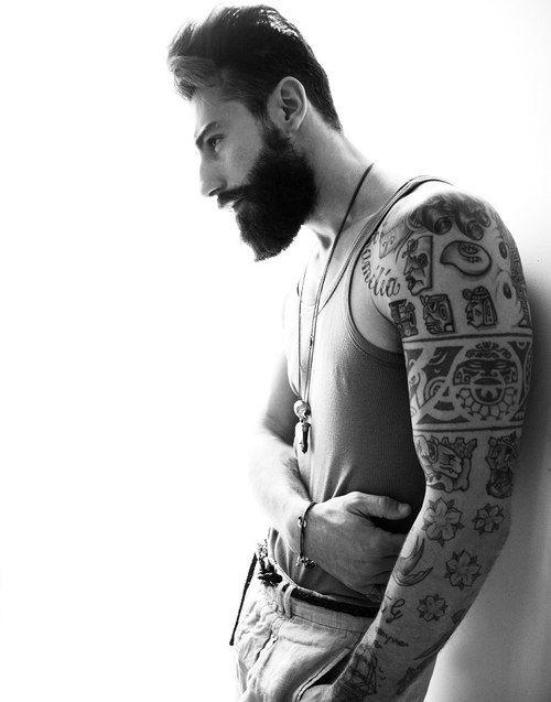 ,.: Gorgeous Tattoo, Beards, Sleeve Tattoo, Tattoos, Body Art, Full Sleeve, Tatoo, Ink