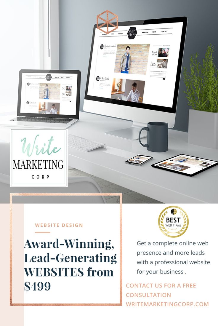Websites from as little as $499.   Get an online presence today and start generating new leads now with our award-winning, lead-generating and fully responsive website design.   Contact us today for a FREE website design consultation & strategy session for your new business ! Visit us at: https://writemarketingcorp.com.  All our sites are, SEO friendly, super fast, mobile responsive, cross browser compatible, unique, integrated with social media and more.