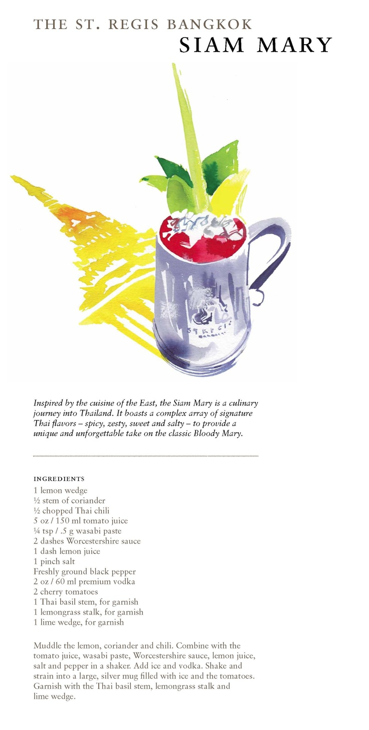 20 best St. Regis Bloody Mary Cards images on Pinterest   Bloody ...