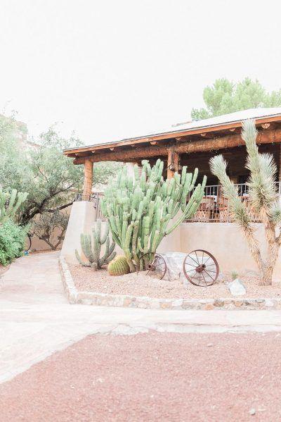 Tanque Verde Guest Ranch Wedding Venue Rustic Cactus Decor Marie Cameron Photography
