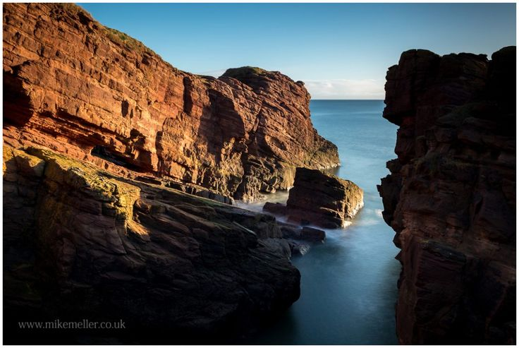 Red Seaton Cliffs in Arbroath, SCOTLAND. Landscape Photography.