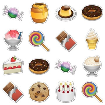 Sweets Emojis, $16, now featured on Fab.