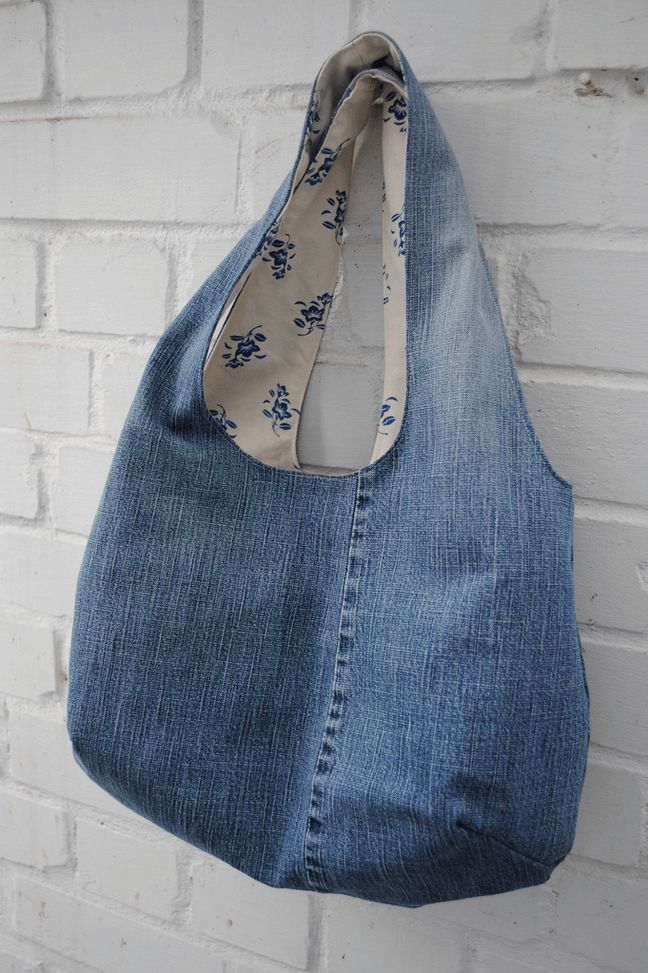 Jean Tote | 21 Things You Never Knew You Could Make with Old Jeans                                                                                                                                                                                 More