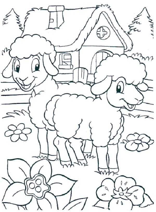 Koyun Keci Boyama Sayfasi Sheep Coloring Pages Free Printable Spring Coloring Pages Free Easter Coloring Pages Easter Coloring Pages