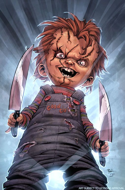 Chucky #1.... fun fact,  this was my fav. Movie when I was younger.....