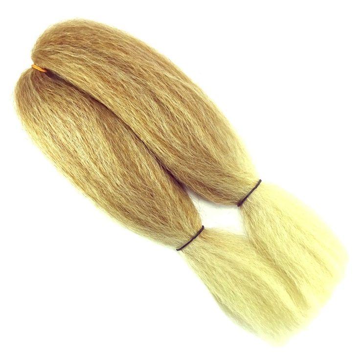 "Kanekalon Jumbo Braid, T27/613 Mixed Blond with Platinum Tips (RastAfri 14"") at I Kick Shins"