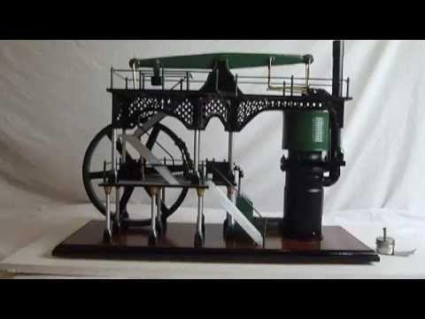 Homemade Stirling Watts Beam Engine , Hot Air Engine . - YouTube