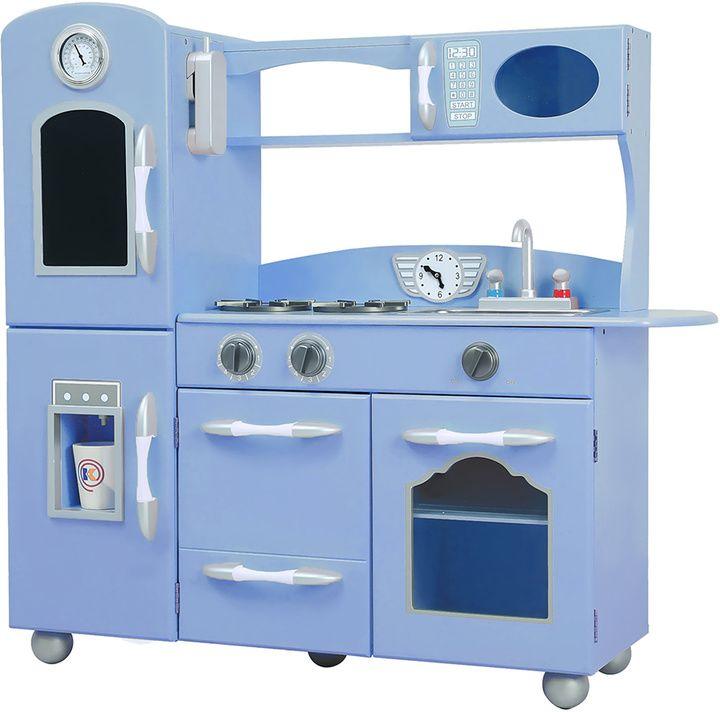 Blue Retro Play Kitchen Set