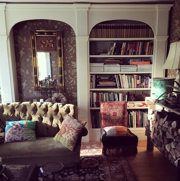 "457 Likes, 10 Comments - James Coviello (@james_coviello) on Instagram: ""After a gloomy Sunday, glorious morning sun!!#livingroom #setee #tuffted #bookcase #homesweethome…"""