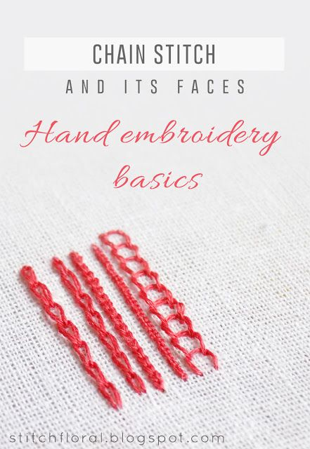 Chain stitch and its faces (  reverse chain stitch and broad chain stitch) #handembroiderystitches, #howtochainstitch, #chainstitch