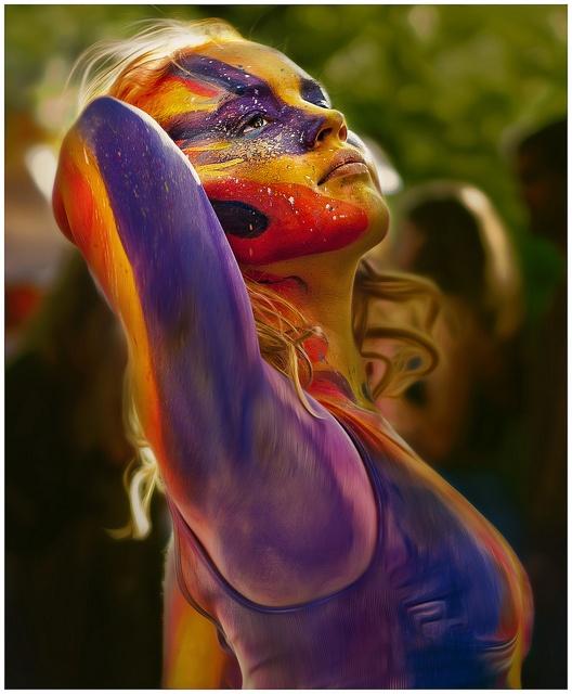 Summer - Body artist Mira Melaluca's work at Art, Not Apart II #canberra