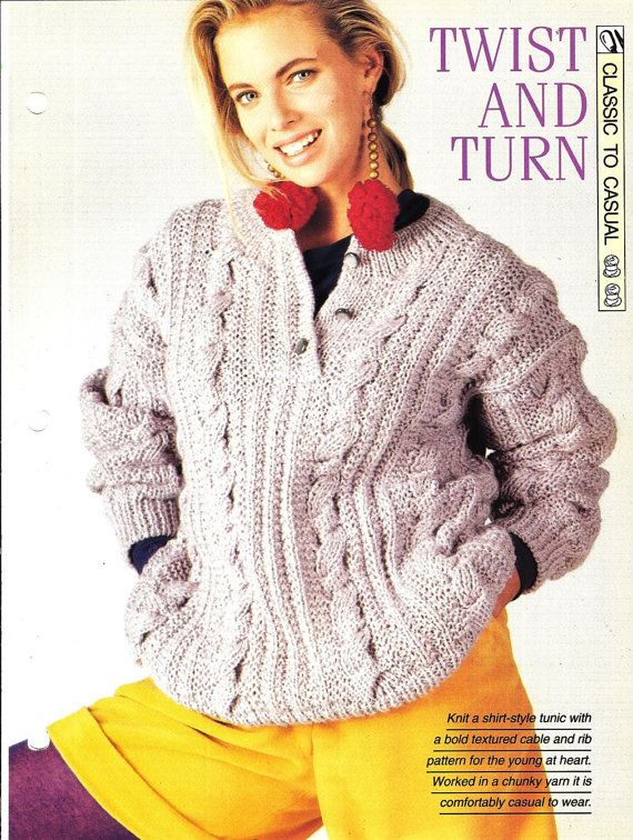 Knitting pattern  Woman's Twist And Turn by MyPatternsCollection