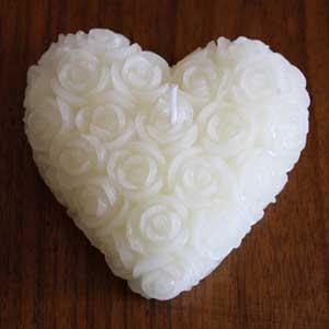 Bougie coeur décoration - bougie décoration de table - boutique décoration romantique