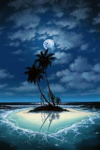 Island... I see you in the moonlight, silhouettes of ships in the night just make me want that much more. Island...