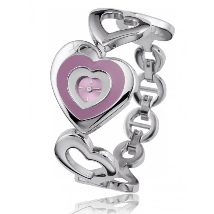 Ladies stainless steel LOVE pink watches - Xc38