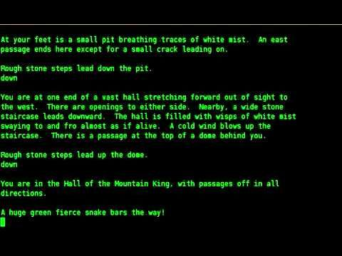 ▶ The Colossal Cave Adventure with a Text to Speech reader (with Festival) - YouTube