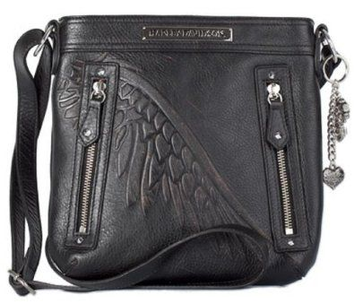 Harley-Davidson� Women's Punk Crossbody Bag Purse With Strap. Exterior Pockets. Enbossed Harley Plate and Embossed Wing. PK9550L $135.95 wish it was available
