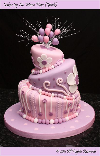 First go at a topsy turvy cake! by Cakes by No More Tiers (York)