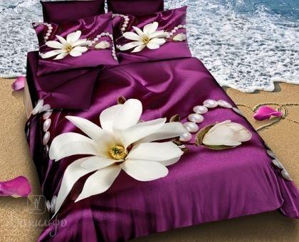 Купить постельное белье из сатина делюкс КАМЕЛЬДЕ 3D 1,5-сп от производителя Cleo (Россия)