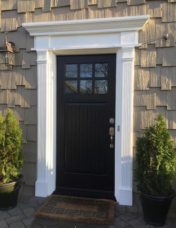 7 Inch W X 108 Inch H X 2 1 2 Inch P Fluted Pilaster W Adjustable Plinth Block Set Of 2 Exterior Door Trim Exterior Door Frame Garage Door Design