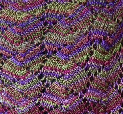 Shell Lace Knitting Stitch Pattern knitting Pinterest