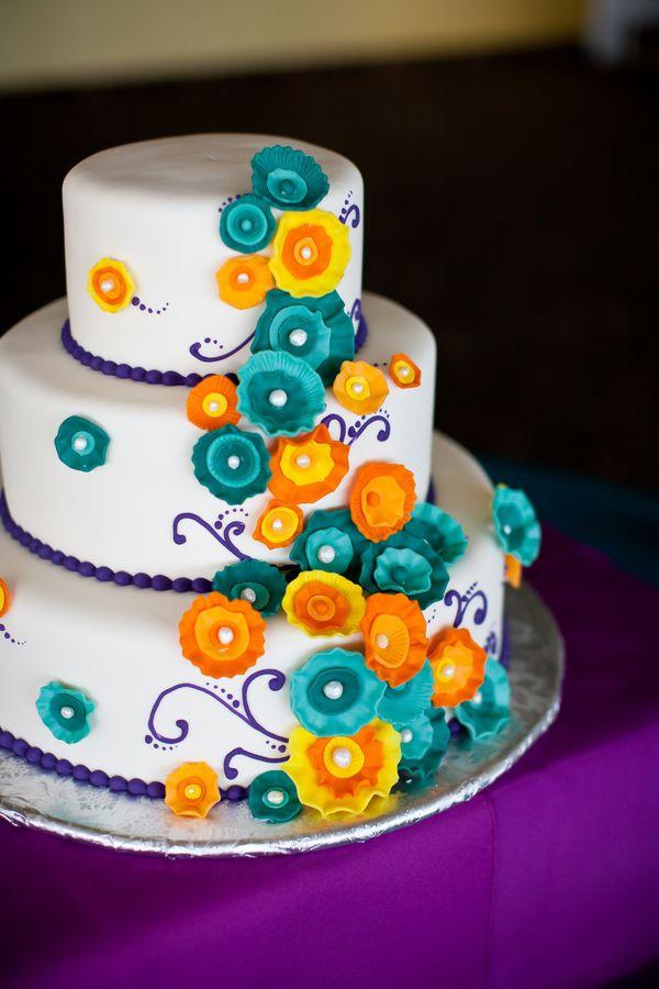 Purple Teal Orange Maryland Wedding 275x412 Maryland Wedding Reception: Shannon + Adam
