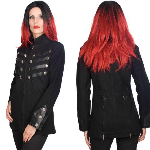 ▶ Ladys Army Jacket Denim! ~♥ #shamorg #aderlass #gothclothing #altclothing