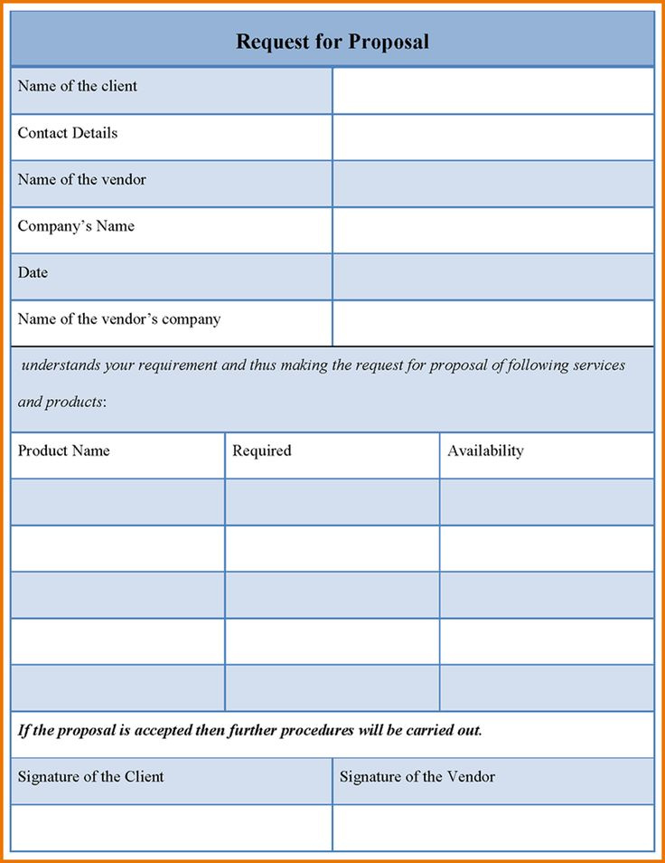 Sample Request For QuoteRequestQuotes Of The Day – Request for Proposal Template