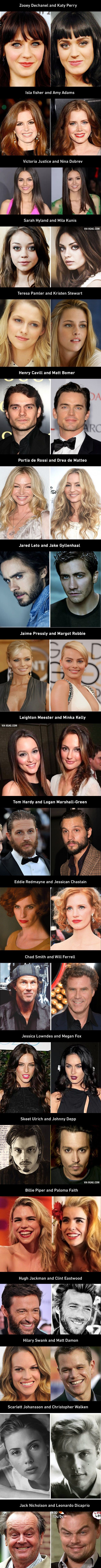 40 Celebrities Who Are So Incredibly Similar That They Look Like Doppelgangers