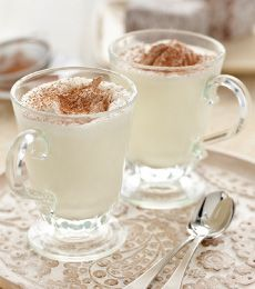 White Hot Chocolate with Cocoa Cream - Move over regular hot chocolate, this white hot chocolate is so smooth and creamy. For an extra dimension, add a shot of espresso…Yum!