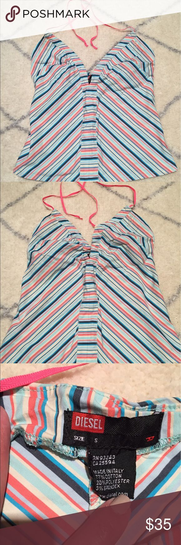 A Diesel Top A long time favorite top- bought it in Key West in a little boutique- instantly felt in love ❤️- perfect Summer top w jeans 👖 Diesel Tops Blouses