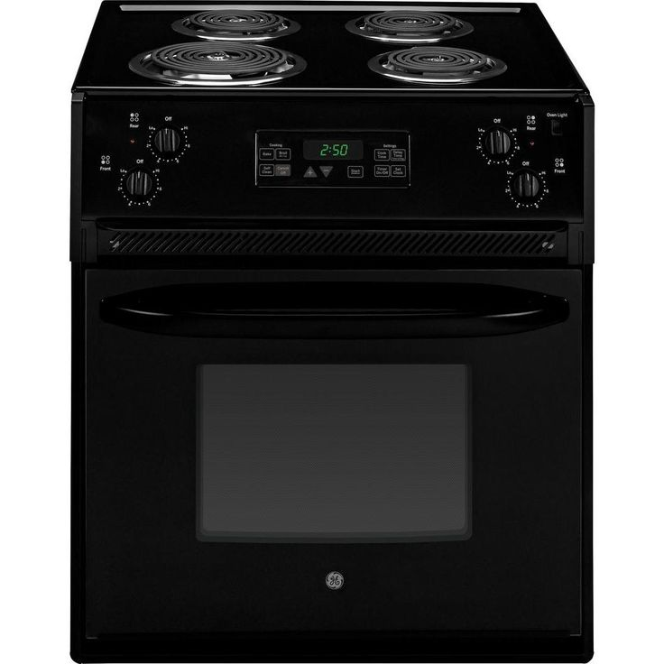 GE 27 in. 3.0 cu. ft. Drop-In Electric Range with Self-Cleaning Oven in Black-JM250DFBB - The Home Depot