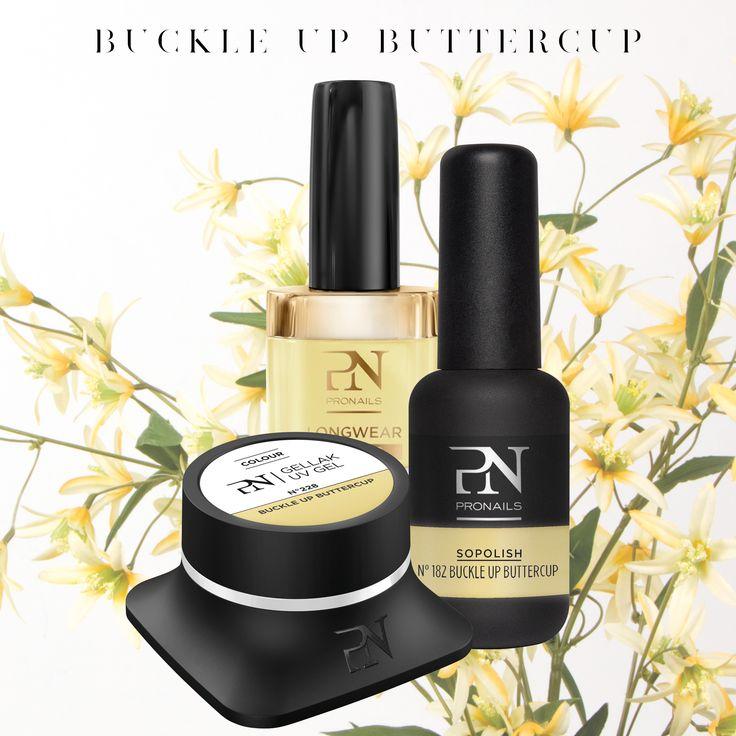 #Buttercup, il nuovo giallo Pronails per la collezione primavera-estate! Indossalo con stile con giacca e tacchi a spillo.  #Wildflower #Pronails #SS18