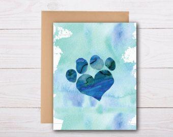 pet sympathy card / loss of a dog, loss of a cat, death of a pet, pet condolence card, pet sympathy cards, pet loss card, dog sympathy card