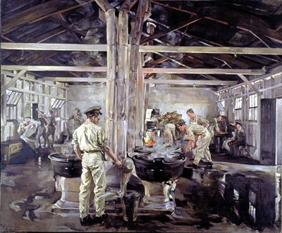 "Anna Airey: ""Cookhouse Witley Camp"" 1918"