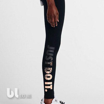 Nike Leg-A-See Just Do It Metal Damen Sport Leggings Fitness Jogging Leggings