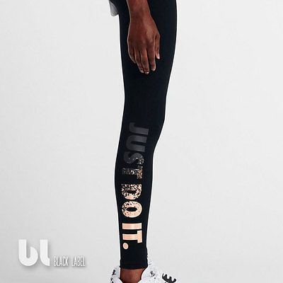 Nike Leg-A-See Just Do It Metal Damen Sport Leggings Fitness Jogging Leggings