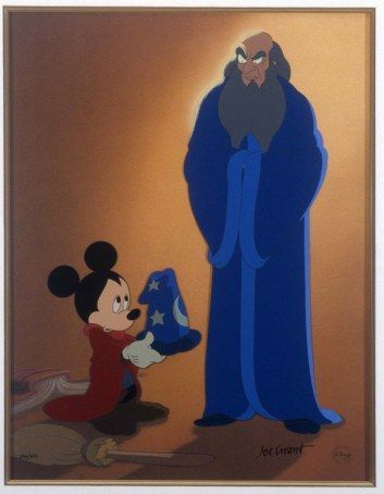 *MICKEY MOUSE the Sorcerer's Apprentice & THE SORCERER ~ Fantasia, 1940