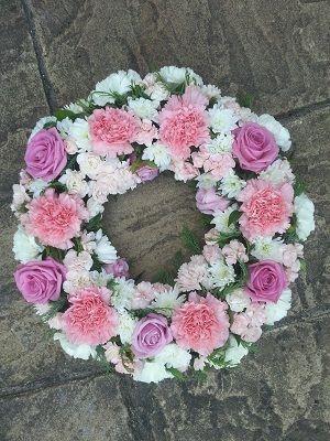 Pink & White Wreath