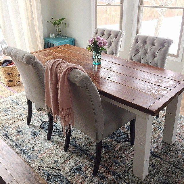 Target basket | Target cabinet | Kate Spade vase | World Market rug & chairs.