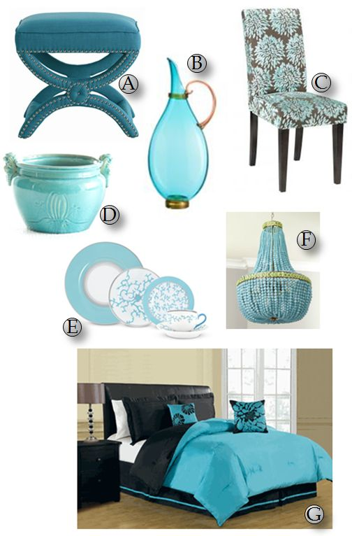 Turquoise Home Decor | Spontaneous Chick
