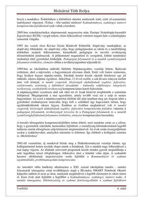 Molnárné Tóth Ibolya Szakmai önéletrajz | PDF Flipbook