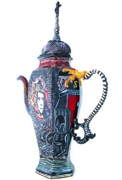 Richard Stratton, Black Tie Teapot, 2009