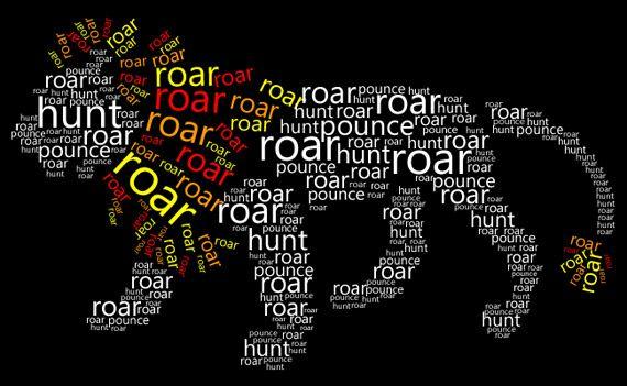 Typography lion.