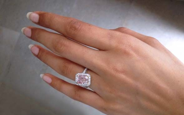 Natural Fancy Pink Diamond Ring | This week's featured jewel has us tickled pink. Icelover has shared ...