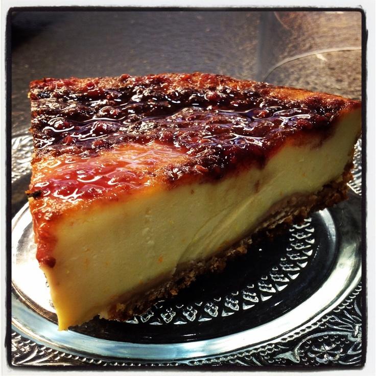 pastís de formatge amb melmelada de gerds...
