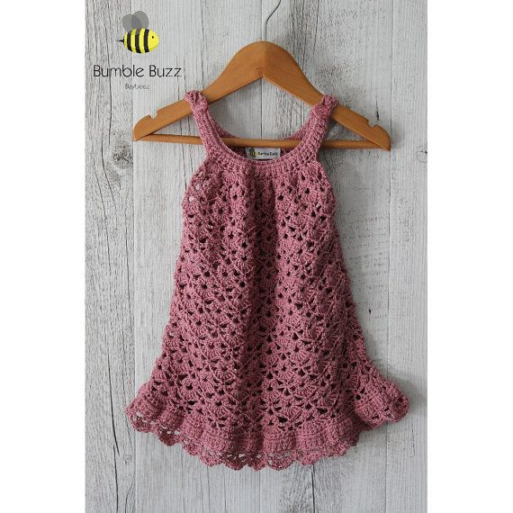 Chantilly  Cotton Baby Dress  Rose by BumbleBuzzBaybeez on Etsy
