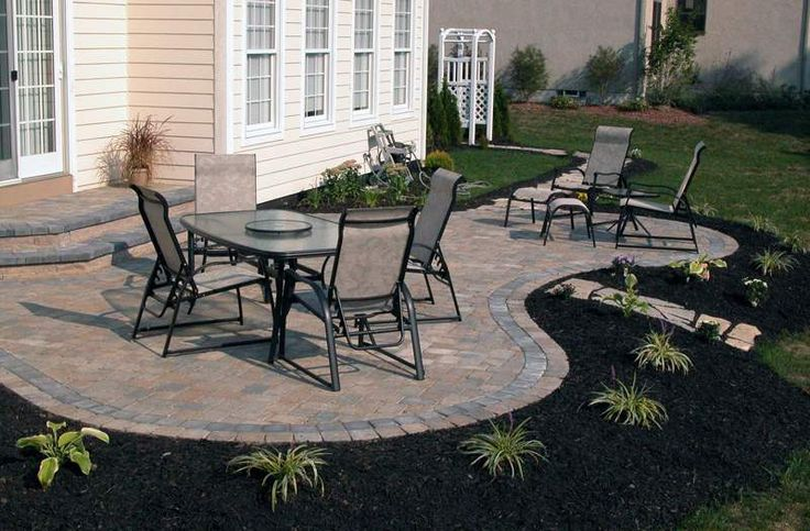 Step down to patio ideas available features and options for Patio pavers design ideas