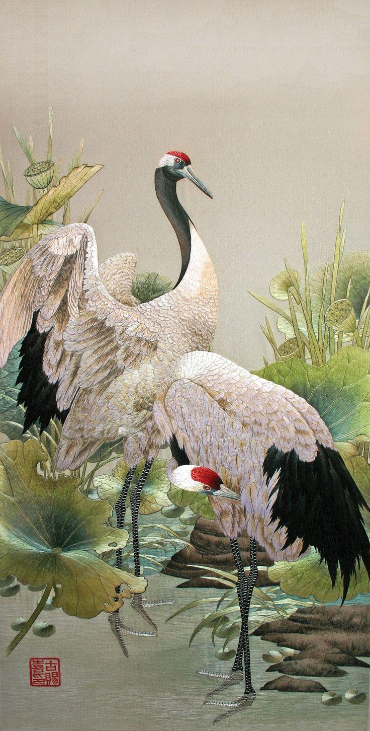 57 best crane images on Pinterest | Japanese watercolor ... - photo#13
