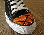 Volleyball Blinged Converse TeamMomBling custom by TeamMomBling